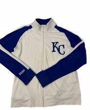 Kansas City Royals Major League Fitness MLB Womens Jacket White Zip Stretch XL