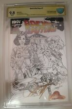 CBCS Grade 9.8 Back To The Future #1 B&W Variant Cover J Scott Campbell SIGNED