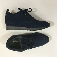 Aerosoles Womens Panoramic Navy Suede Walking Shoes Size 6
