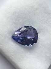 Igi Certified 2.32 Carat Bluish Violet Tanzanite.  Pear Cut.