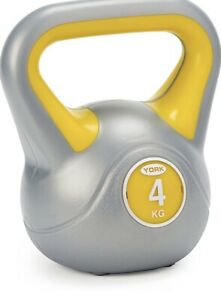 2X York Fitness Vinyl Kettlebell 4kg Home Gym Equipment