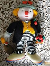 Vintage Large Hand Knitted Toy Jean Greenhowe Celebration Clown