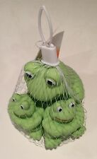 10 Rubber Froggy Bath Toy Party Favor Set of (3) 1 Big & 2 Small Green Frogs NEW