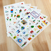 6 sheet leisure life deco calendar diary Planner transparent stationery stickers