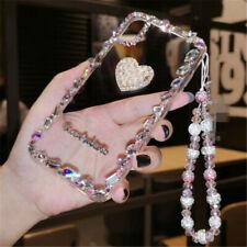 Handmade Sparkle Bling Diamonds Rhinestone Soft Phone Case & strap For iPhone