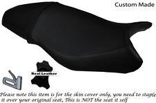 Negro Stitch personalizado se adapta a Triumph Street Triple 675 13-15 Doble Cubierta De Asiento