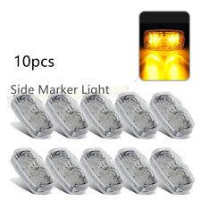 "10pcs Clear Lens 2"" x4"" Amber Side Marker Light Bullseye 12 Diodes Trailer Truck"