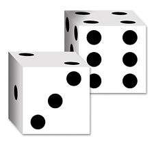 2 CASINO Game Night DICE Cardboard Boxes Birthday Party Decoration