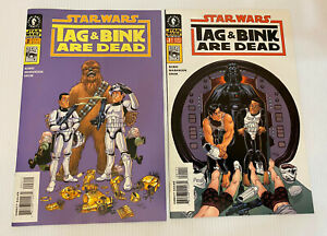 STAR WARS Tag & Bink Are Dead (2001 Dark Horse) -- #1 2 -- FULL Series / Set