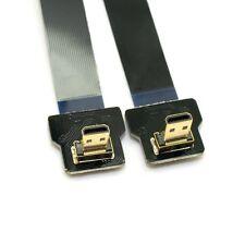 20cm 90 Degree Down Angled FPV Micro HDMI Male to Micro HDMI FPC Flat Cable