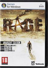 Rage: Anarchy Edition (For Windows PC, VG Condition)