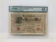 Rare 1903 Germany 1000 Mark P-23 PMG About Uncirculated 55 Top Pop