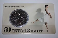 (PL) 2012 50th Anniversary Australian Ballet 50c UNC Coin ROYAL AUSTRALIA MINT