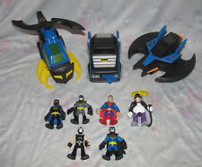 Fisher Price Imaginext DC Heroes Set - Batwing, Batcopter, Batmobile, Bane