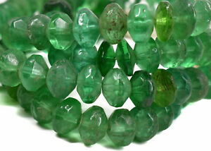 Vaseline Trade Beads Green Bohemian Africa