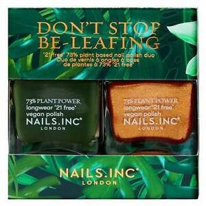 Nails Inc - Nail Polish Duo - Don't Stop Be-Leafing 2 x 14ml (25159)