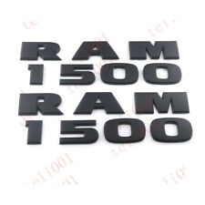 2pcs Black RAM 1500 Emblem Badge Nameplate 3D Decal for Ram 1500 Matte Black