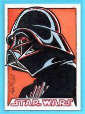 2016 Topps Star Wars EVOLUTION Darth Vader Signed SKETCH CARD - Kevin P. West