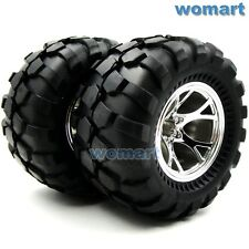 2pcs RC Big Foot Soft Tires OD 110mm W/ Hex 12mm 2.2in Wheels for Crawler Truck