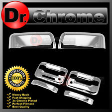 04-08 Ford F150 Chrome Top Half Mirror+2 Door Handle+keypad+PSG keyhole Cover