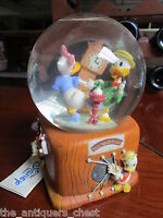 "Disney Donald and Daisy dancing music box  snowglobe, it plays ""In the mood""[aA]"
