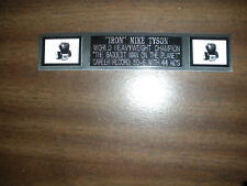 MIKE TYSON (BOXING) NAMEPLATE FOR SIGNED GLOVES/TRUNKS/PHOTO DISPLAY