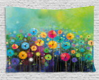 Floral Tapestry Colorful Dandelions Print Wall Hanging Decor 60Wx40L Inches