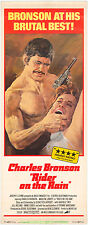 RIDER ON THE RAIN MOVIE POSTER RERELEASE 1974 INSERT  CHARLES BRONSON 1969 FILM