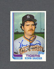 Kevin Saucier signed Detroit Tigers 1982 Topps baseball card