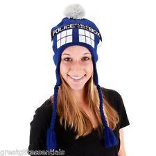 DOCTOR DR WHO TARDIS LAPLANDER Hat Cap Blue Police Box Tom Baker LICENSED NEW