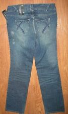 LANE BRYANT 14 Tall Distressed Boot Stretch Jeans Right Fit Yellow (Like Sophie)
