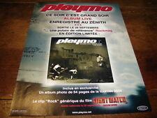 PLEYMO - Publicité de magazine CE SOIR C'EST GRAND SOIR - LIVE !!!!!!!