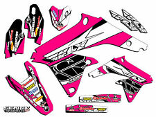 2007 2008 2009 RMZ 250 GRAPHICS KIT SUZUKI RMZ250 07 08 09 DECO DECALS PINK FLY