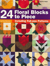 TWENTY FOUR 24 FLORAL BLOCKS Quilting Pattern Book NEW