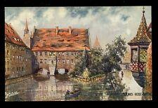 Germany NURNBERG Heiliges Geist-Spital Charles F Flower Tuck Oilette 7580 PPC