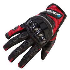 Gants rouge textile pour motocyclette