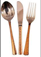 Steel Copper Cutlery Set 1 Spoon 1 Fork  1 Knife