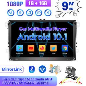 "9"" Car Stereo Radio Android 10.1 GPS Navi + Camera For VW Golf 5 MK5 MK6 Jetta"