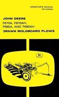JOHN DEERE F670A F670AH F680A Plow Operators Manual
