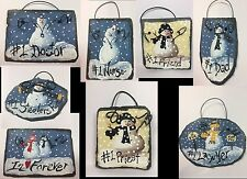 Hand Painted PERSONALIZED Custom CHRISTMAS ORNAMENTS From Slate SPORTS Names ++