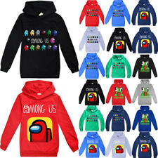 Among Us Imposter Game Clothes Kids Hoodie Gaming Hooded Sweatshirt Tops Sweater