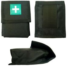 First Aid Carry Kit Pouch, Black, Belt Loop Attachment, Reflective Badge 14x11cm