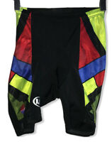 Vintage Louis Garneau Women's Sz Small Black/Red/Green Geometric Cycling Shorts