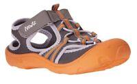 NWT - NEWTZ Boys Kids UPF 50+ Gray Orange Beach Pool Water Shoe Sandal - L 9/10