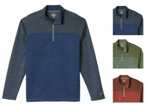NWT! G.H. Bass & Co. Men's 1/4 Zip Long Sleeve Pullover Size & Color VARIETY S35