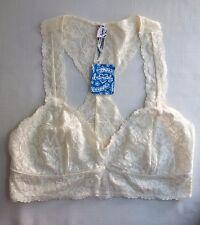 FREE PEOPLE Intimately FP Galloon Lace Racerback Bra Ivory Medium (M) NWT