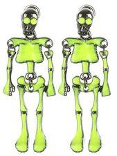Glow in the Dark Skeleton Earrings-Halloween Earrings-Double Sided Earrings-Gift