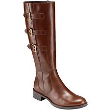 ECCO Womens Hobart Closed Toe Knee High Fashion Boots, Cognac, Size 7-7.5