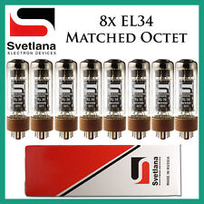 New 8x Svetlana EL34 | Matched Octet / Eight | Power Tubes | Free Ship