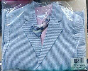Nautica Boy's Suit 4 Piesce Set Size 7R Color ELO MED BLUE